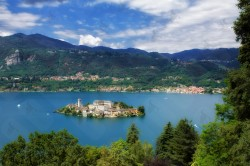 Lake Orta is located in Piedmont close to Lake Maggiore. Orta and the island of St. Julius are considered among the most beautiful villages in Italy.