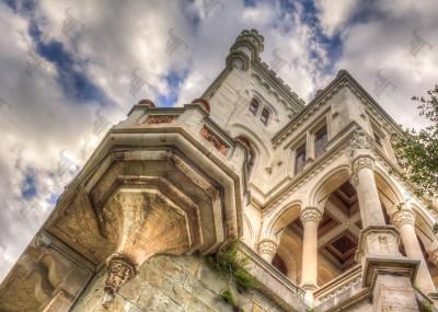 Miramare, the white castle overlooking the Adriatic sea in the gulf of Trieste near the bay of Grignano