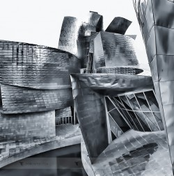 The dancing walls of the Guggenheim Museum in Bilbao