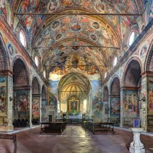 Internal view of the church Santa Maria delle Grazie in Soncino