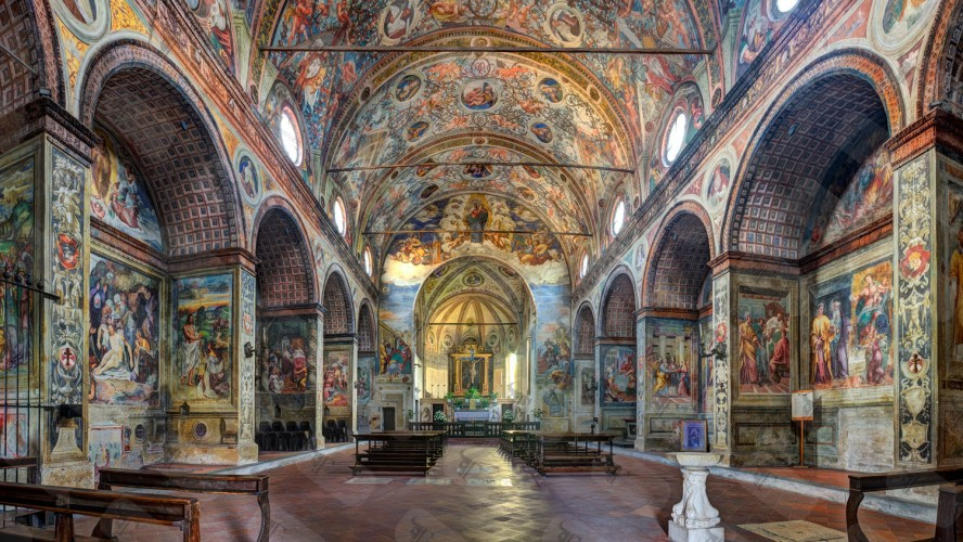 Internal view of the church Santa Maria delle Grazie in Soncino