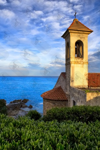 Sant'Ampelio church on the coast of Bordighera