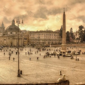 Piazza del Popolo, one of the most beautiful squares in Rome.